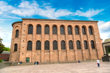 Basilica of Constantine in Trier in a beautiful summer day, Germany Stock Photo