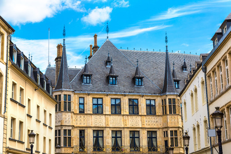 benelux: Grand Ducal Palace in Luxembourg a beautiful summer day, Luxembourg