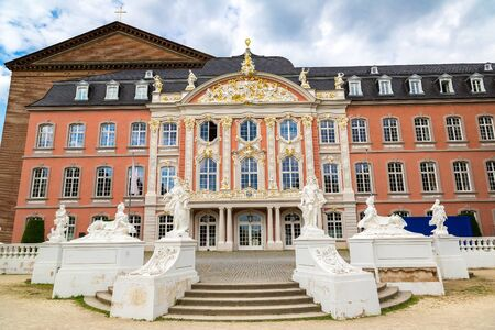 Electorate palace (Kurfurstliches palais) in Trier in a beautiful summer day, Germany Editorial