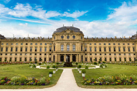residenz: Residenze Palace in Wurzburg in a beautiful summer day, Germany Editorial