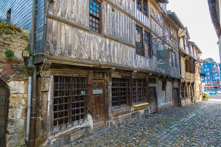 basse normandy: Museum of old Honfleur in a beautiful summer day, France
