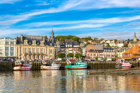 Trouville and Touques river in a beautiful summer day, France