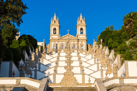 Bom Jesus do Monte Monastery in Braga in a beautiful summer day, Portugal Reklamní fotografie