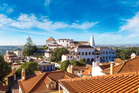 Palace of Sintra (Palacio Nacional de Sintra) in Sintra in a beautiful summer day, Portugal