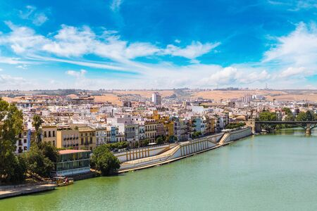 isabel: Guadalquivir river in Sevilla in a beautiful summer day, Spain