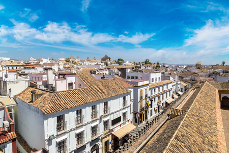 Panoramic view of Cordoba in a beautiful summer day, Spain