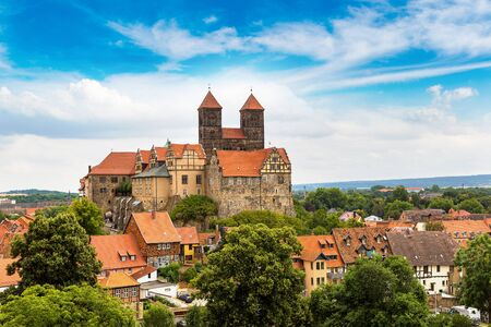 The Castle Hill in Quedlinburg in a beautiful summer day, Germany