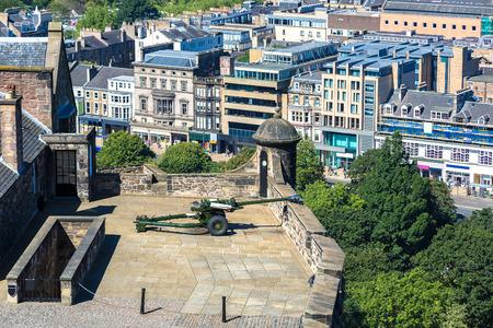 scottish parliament: Edinburgh castle cannon which shoots at one oclock, Scotland, United Kingdom