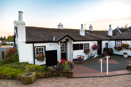 gretna green: Old Blacksmith shop in Gretna Green in a beautiful summer day, Scotland, United Kingdom