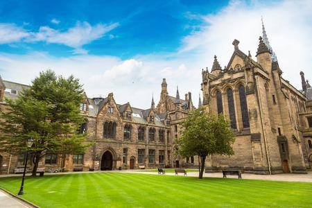 University of Glasgow, Scotland in a beautiful summer day, United Kingdom