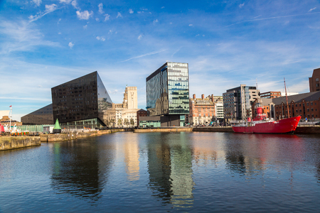 mersey: Modern architecture in Liverpool, England, United Kingdom
