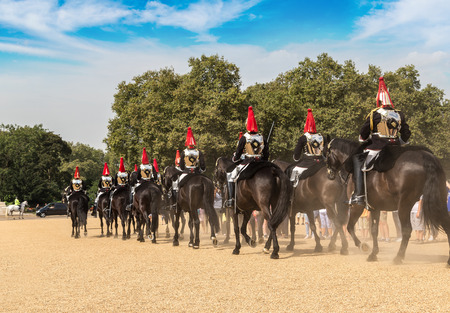 solider: Royal Guards parade at the Admiralty House in London, England, United Kingdom