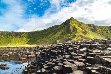 Giant's Causeway in a beautiful summer day, Northern Ireland Reklamní fotografie - 70905123
