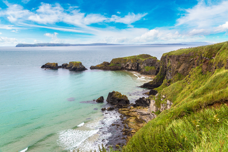 Carrick-a-Rede, Causeway Coast Route in a beautiful summer day, Northern Ireland, United Kingdom
