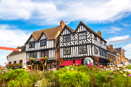 Half-timbered house in Stratford upon Avon, England, United Kingdom