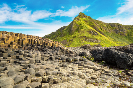 Giant's Causeway in a beautiful summer day, Northern Ireland Reklamní fotografie - 70770305