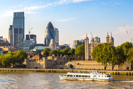 Cityscape of London in a beautiful summer day, England, United Kingdom Stock Photo