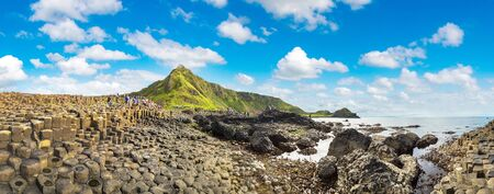 northern ireland: Giants Causeway in a beautiful summer day, Northern Ireland