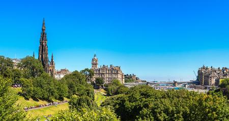 The Walter Scott Monument in Edinburgh in a beautiful summer day, Scotland, United Kingdom Stock Photo