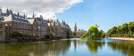 the hague: Binnenhof palace, dutch parliament in Hague in a beautiful summer day, The Netherlands