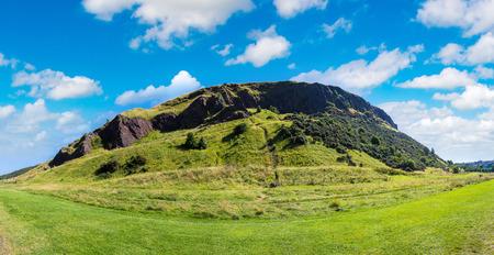 Cityscape of Edinburgh from Arthurs Seat in a beautiful summer day, Scotland, United Kingdom Stock Photo