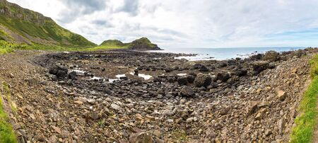 Giants Causeway in a beautiful summer day, Northern Ireland