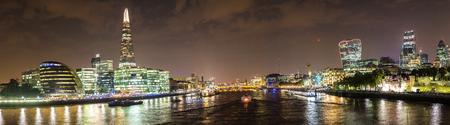 shard: Night landscape view of The Shard in London, England, United Kingdom Stock Photo