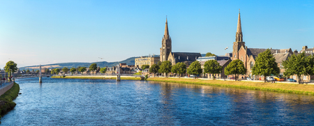 Cityscape of Inverness, Scotland in a beautiful summer day, United Kingdom