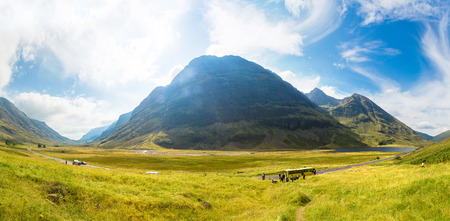 Summer in Scotland highlands in a beautiful summer day, United Kingdom