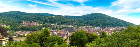 Panoramic aerial view of Heidelberg in a beautiful summer day, Germany Stock Photo