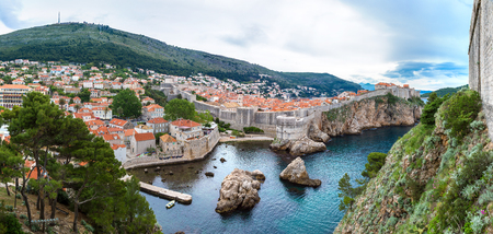 Panorama of Old city Dubrovnik in a beautiful summer day, Croatia