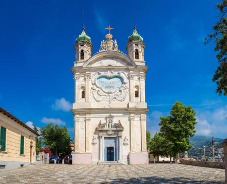 Church of Madonna della Costa in San Remo in a beautiful summer day, Italy Stock Photo