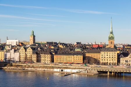 Gamla Stan, the old part of Stockholm in a sunny day, Sweden Stock Photo