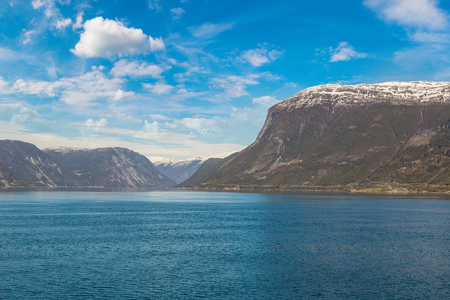 Sognefjord in Norway in a sunny day