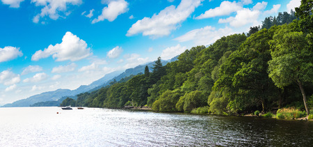 Lake Loch Lomond in a beautiful summer day, Scotland, United Kingdom