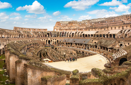 Legendary Coliseum in Rome, Italy in a winter day Stock Photo