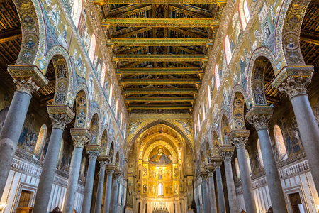 Cathedral of Monreale, Italy in a beautiful summer day