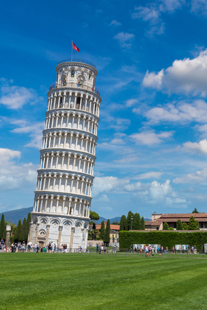 Leaning tower of Pisa, Italy in a beautiful summer day