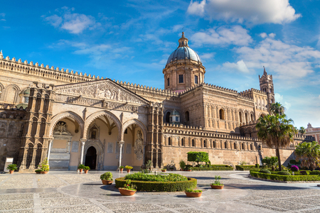 Palermo Cathedral in Palermo, Italy in a beautiful summer day Reklamní fotografie