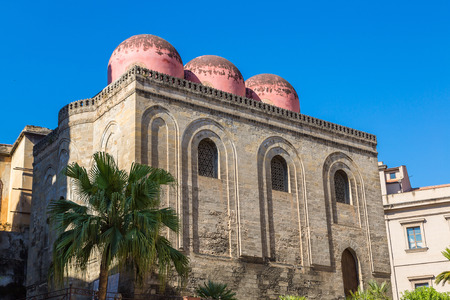 Church of San Cataldo in Palermo, Italy in a beautiful summer day Stock Photo