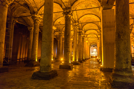 The Basilica Cistern in Istanbul, Turkey in a beautiful summer day Stock Photo