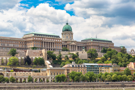 Royal Palace in Budapest in Hungary in a beautiful summer day