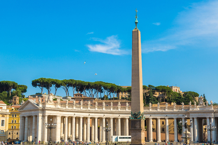 Saint Peters Square in Vatican, Rome, Italy in a summer day Redakční
