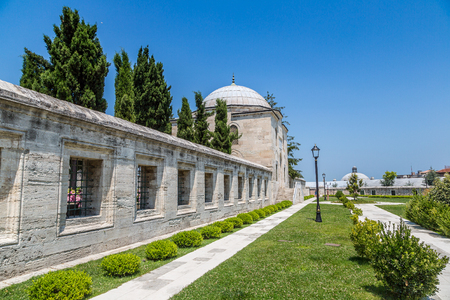 Suleymaniye Mosque in Istanbul, Turkey in a beautiful summer day