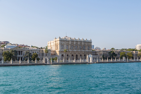 Dolmabahce Palace in Istanbul, Turkey in a beautiful summer day Redakční