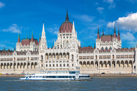 Parliament building in Budapest in Hungary in a beautiful summer day