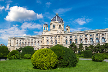 Naturhistorisches Museum (Natural History Museum) in Vienna, Austria in a beautiful summer day Redakční