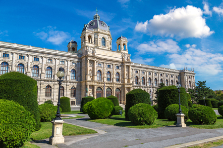 Naturhistorisches Museum (Natural History Museum) in Vienna, Austria in a beautiful summer day Editorial