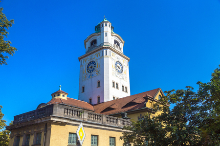 The Mullersches Volksbad building in Munich, Germany in a beautiful summer day