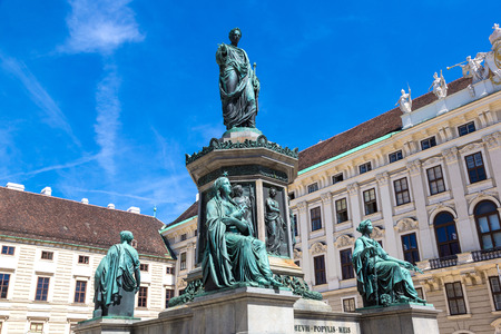 Monument to Emperor Franz I at the Hofburg Palace in Vienna, Austria in a beautiful summer day
